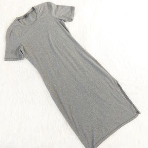 Wilfred Free Gray Short Sleeve Maxi Dress